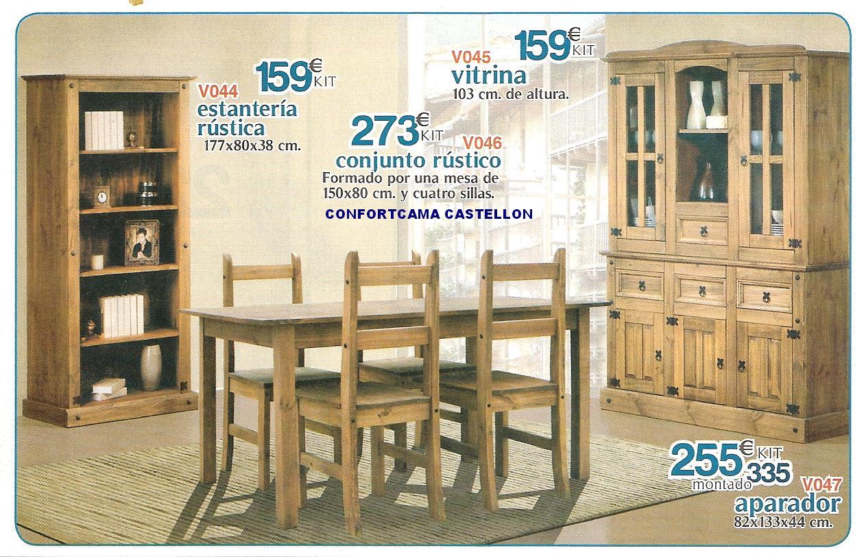 Muebles oferta kit comedores composiciones murales for Comedores en oferta