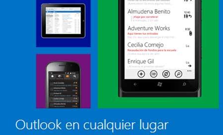 Outlook.com telefonos moviles