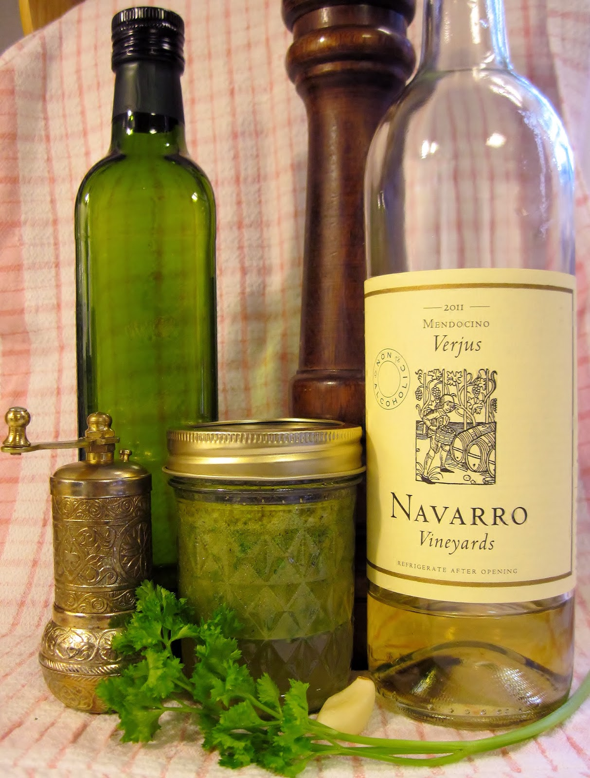 verjus vinaigrette salad dressing