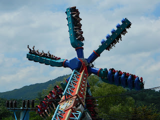Double rock spin at Everland park, Seoul
