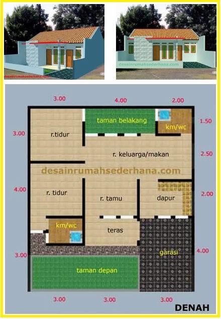 Desain Rumah Sederhana Renovasi KPR Type 60 Hook 1 Lantai