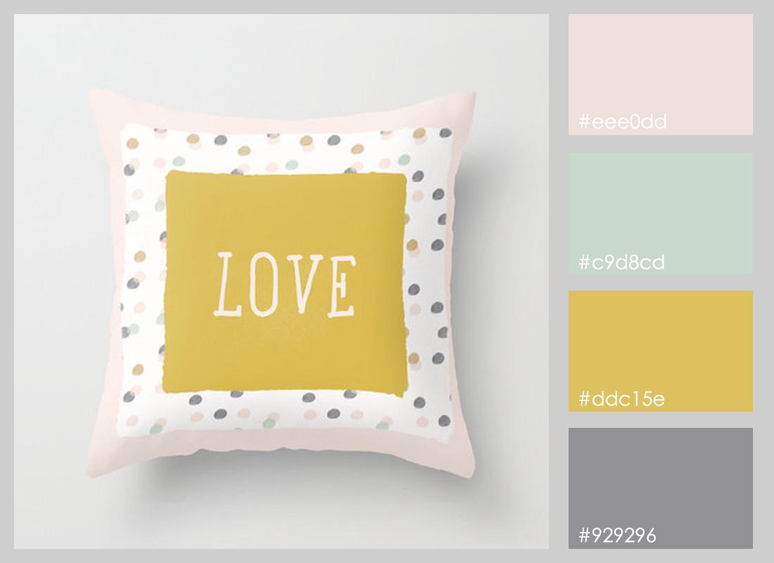paleta de colores - cojin