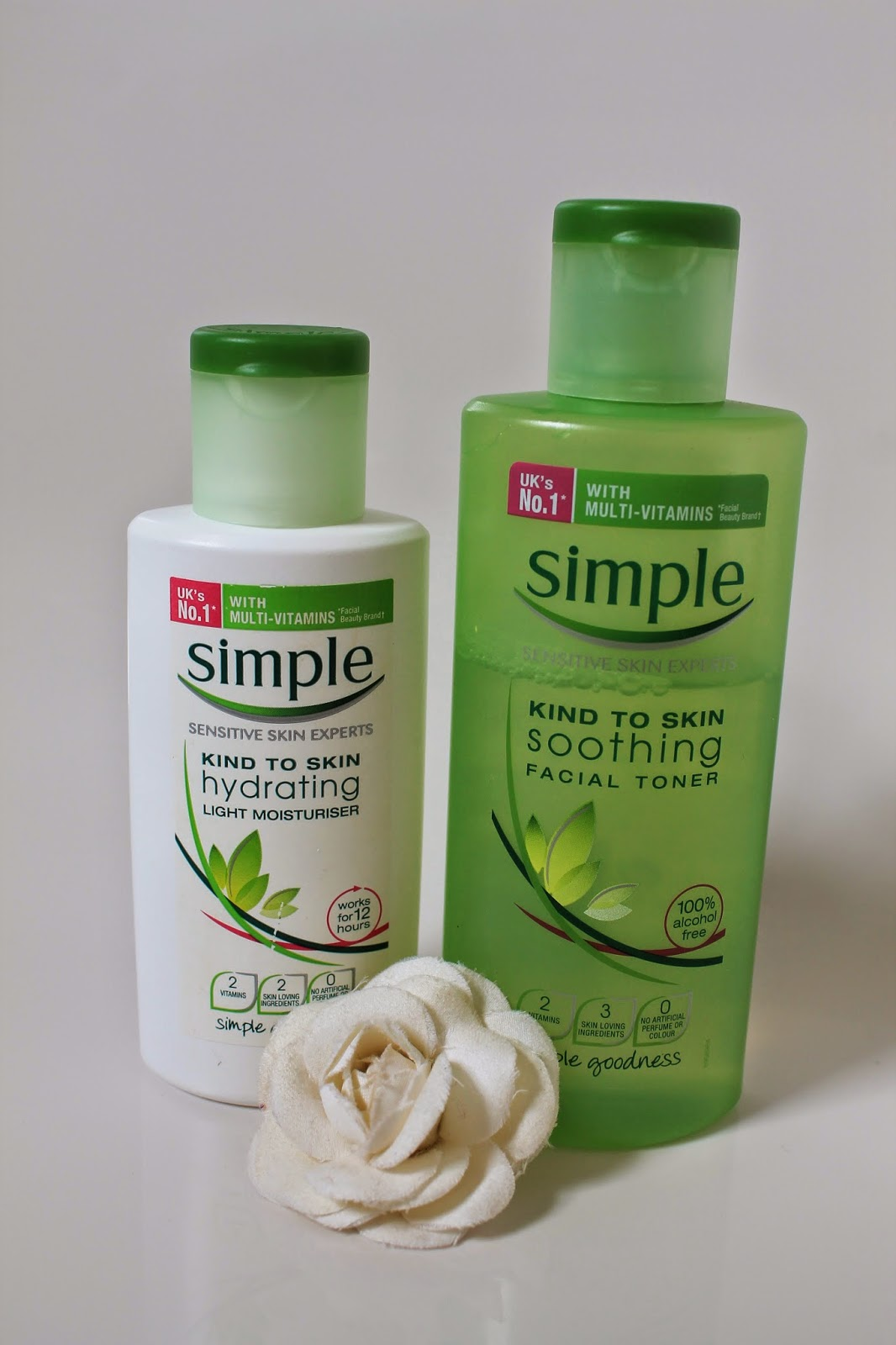 simple moisturiser toner moisturiser holiday essentials