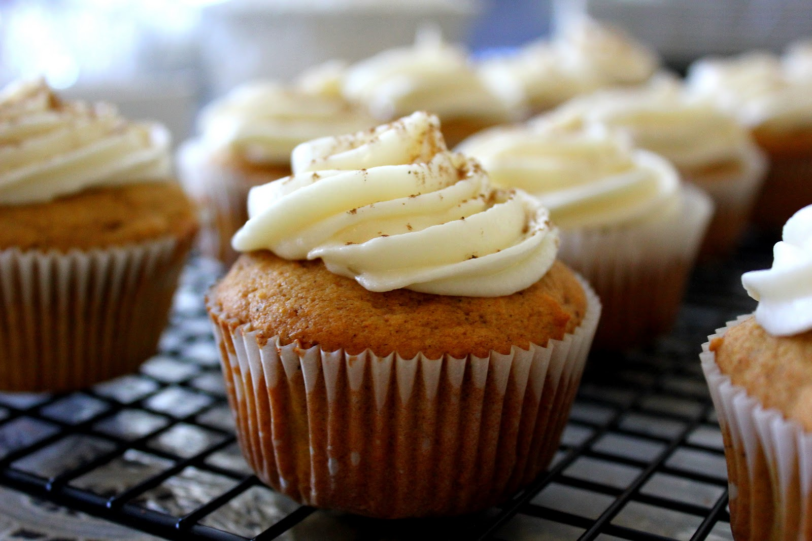 Professor Sprinkle: Pumpkin Cupcakes with Cream Cheese Frosting ~