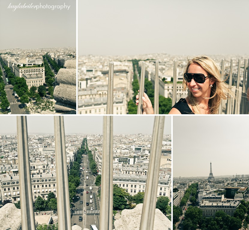 arc de triomphe view photo