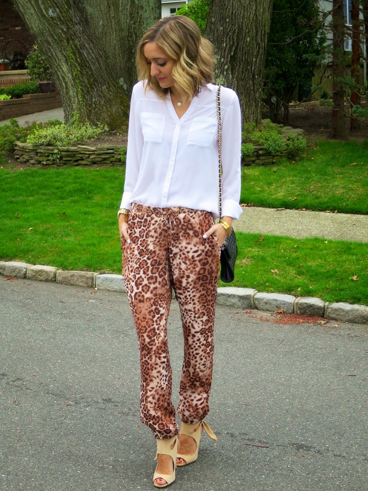 leopard pants look