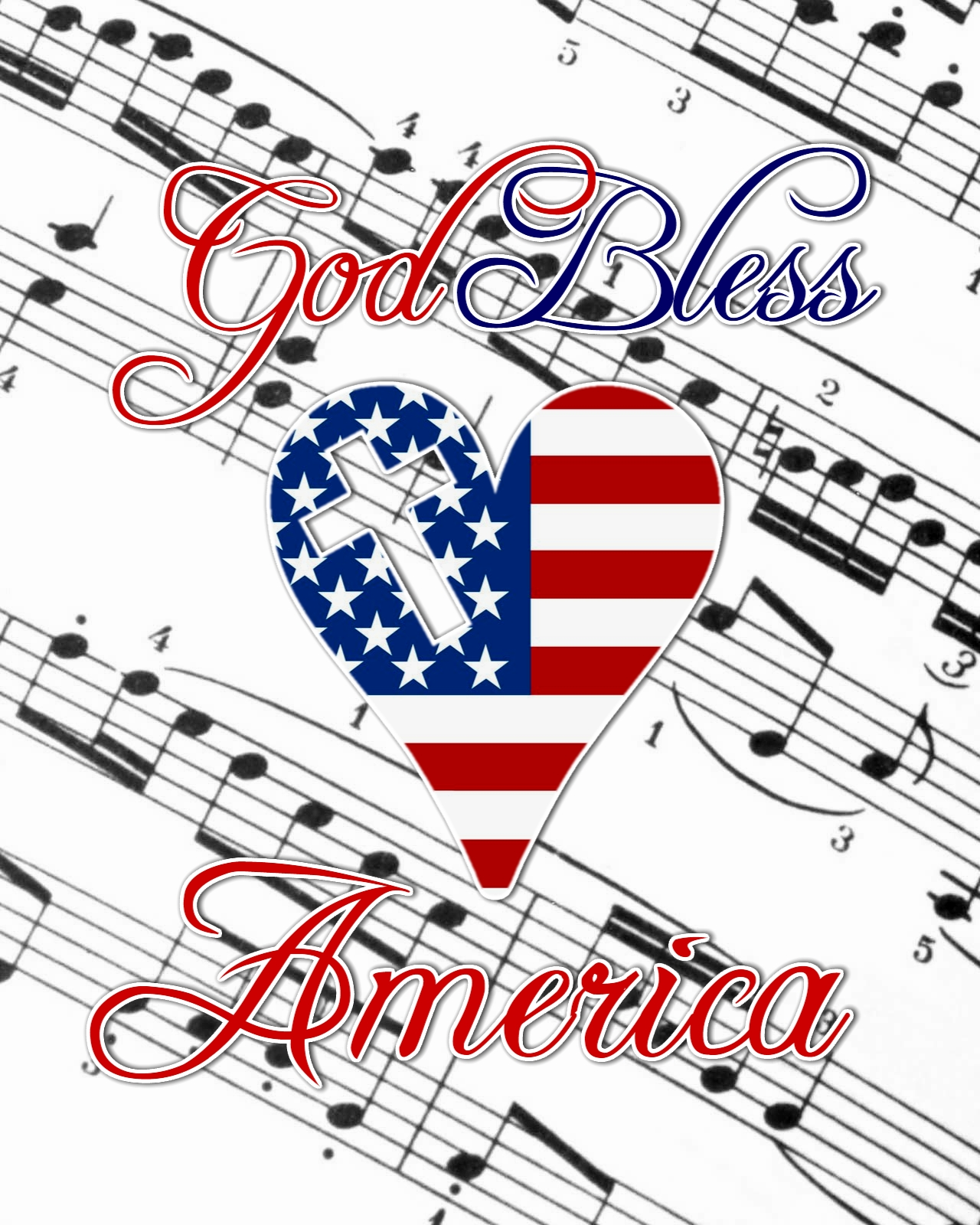 photograph regarding Free Printable God Bless America Sheet Music referred to as Agape Delight in Strategies: God Bless The usa No cost Printable