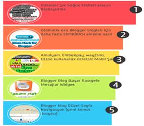 Blogger Renkli ve Numaralı Popüler Yayınlar Eklentisi [CSS3]