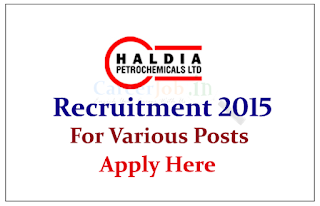 Haldia Petrochemical Limited Recruitment 2015 for the post of Officer and Assistant Manager-IT