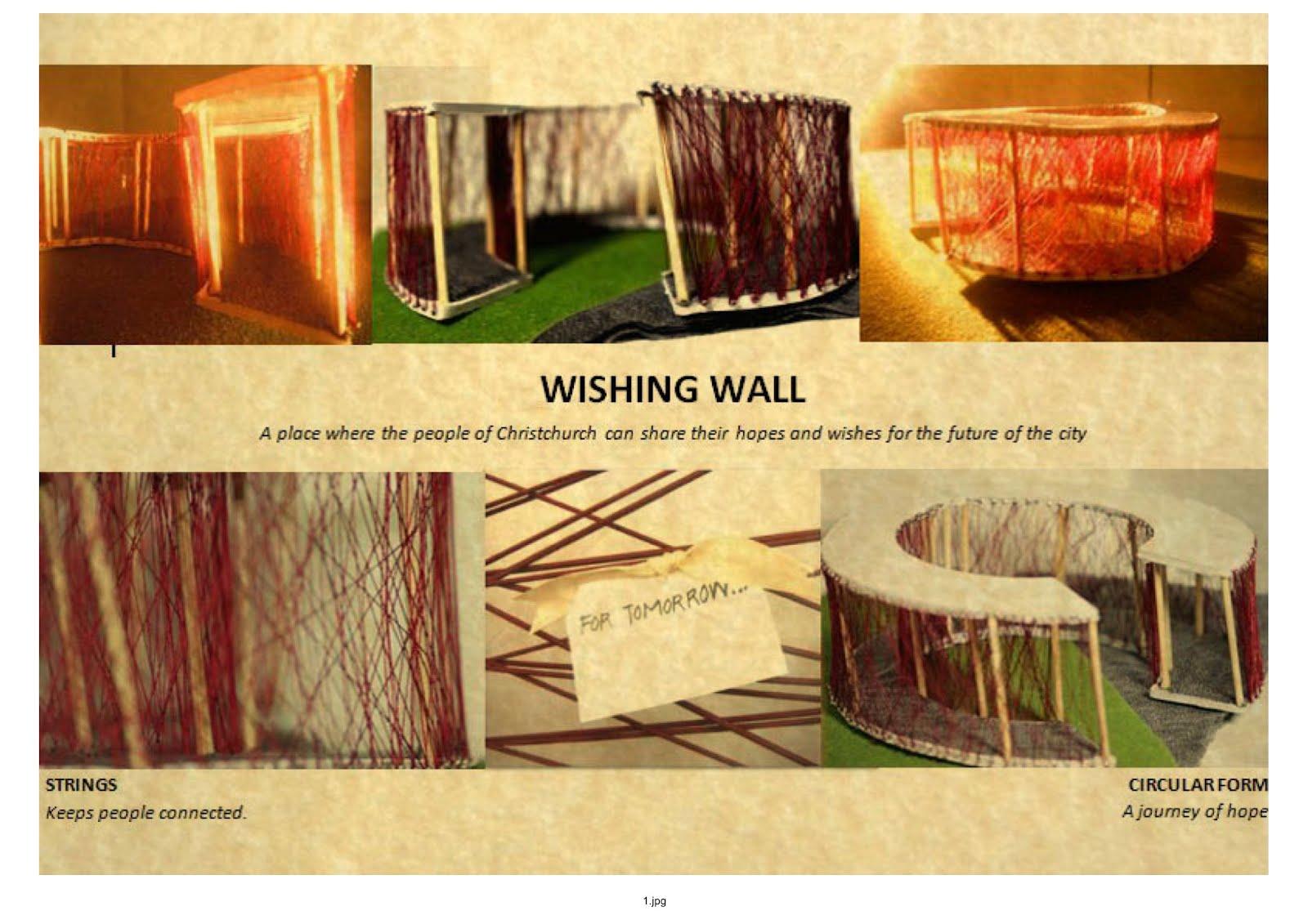 Wishing wall