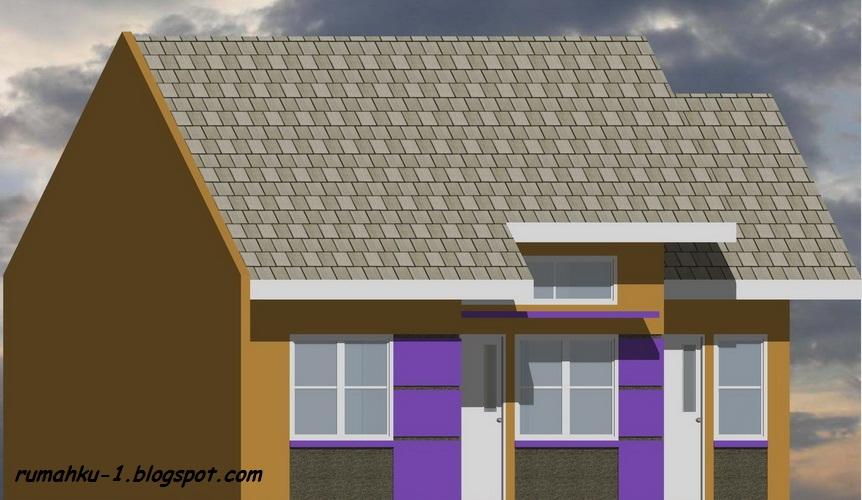 rumahku 1 denah desain rumah minimalis type 54 120