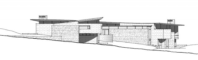 Facade drawing of the otter cove residence