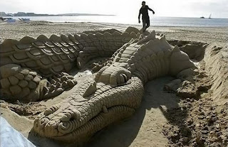Amazing Dragon's Egg Sand Sculptures photo gallery