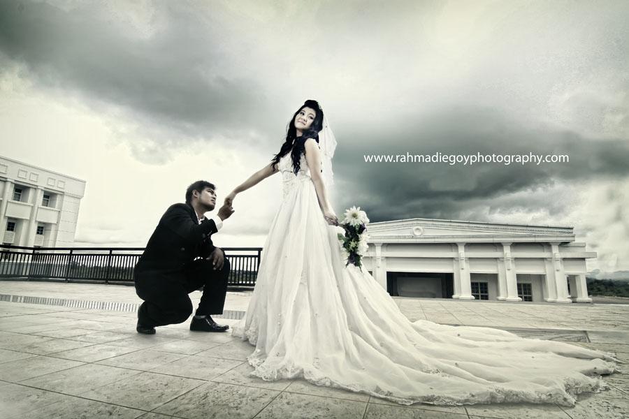 foto prewedding konsep gaun eropa 1