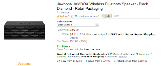 Jawbone Jambox Coupon