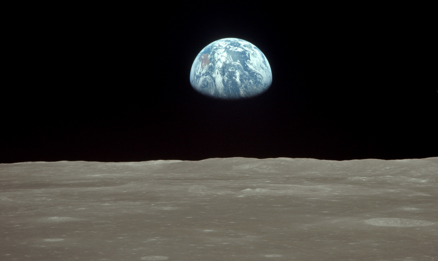 Pillar to post iconic images earth rise from the moon