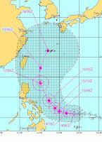 Tropensturm GUCHOL ist jetzt ein Taifun und heißt mit Zweitnamen BUTCHOY, Philippinen, Japan, China, Taiwan, Guchol, Butchoy, Vorhersage Forecast Prognose, aktuell, 2012, Juni, Taifun Typhoon, Taifunsaison, Taifunsaison 2012, Pazifik,
