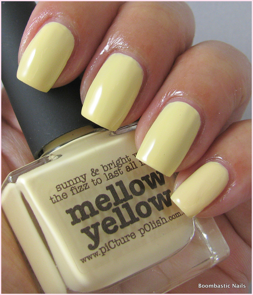 2 Coats Of Picture Polish Mellow Yellow A Soft Creme And I Like It On Me