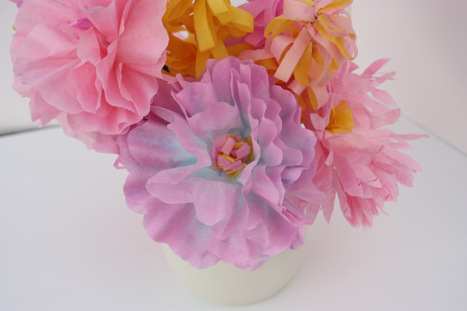 Crafty Ladyworking Mom Gerber Daisy Peony And Lilac Paper Flowers