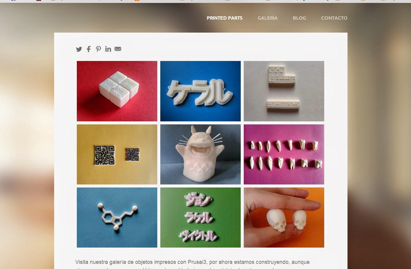 Printed Parts Web