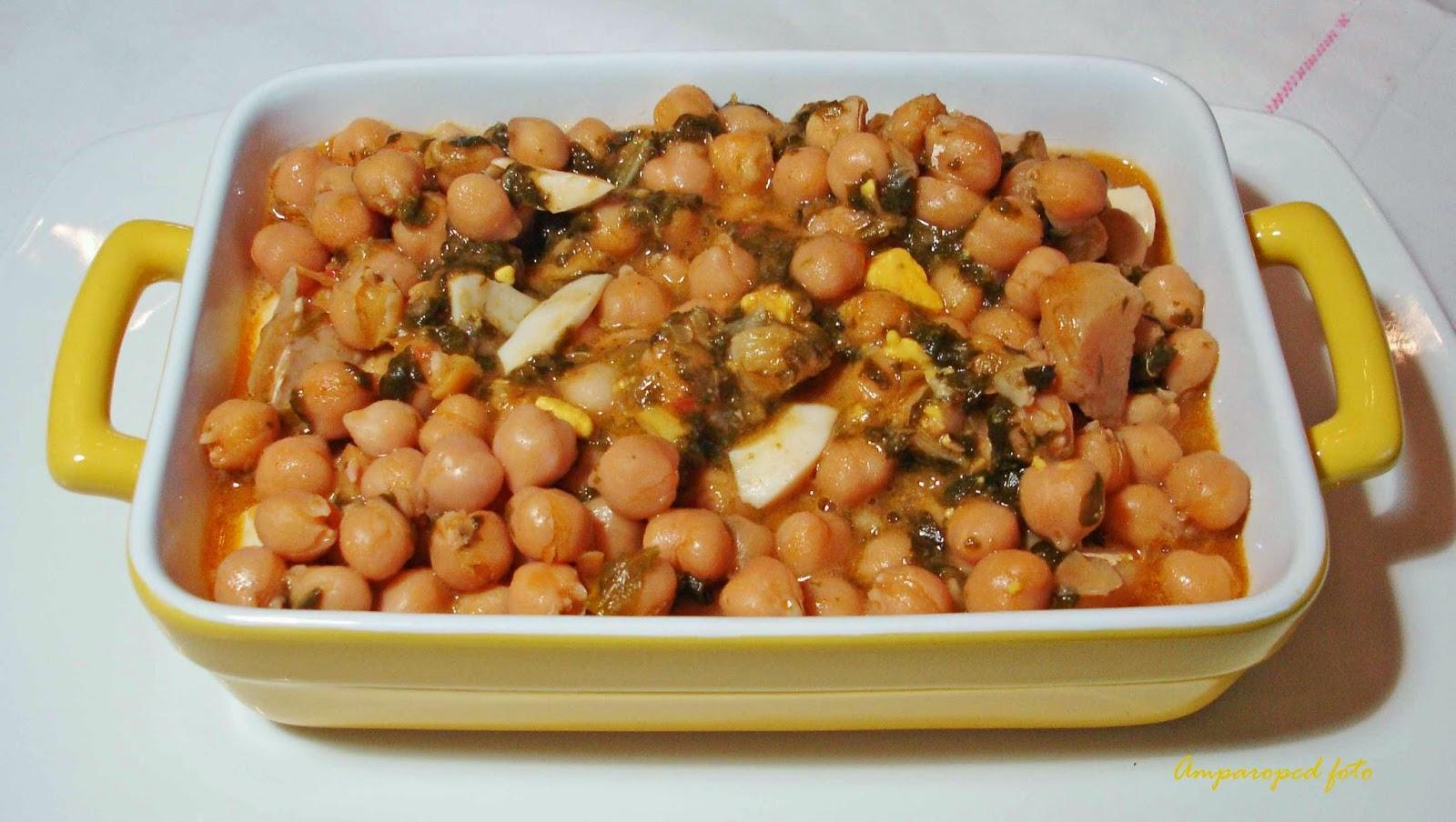 Cocinando en casa garbanzos con bacalao y espinacas - Garbanzos espinacas bacalao ...