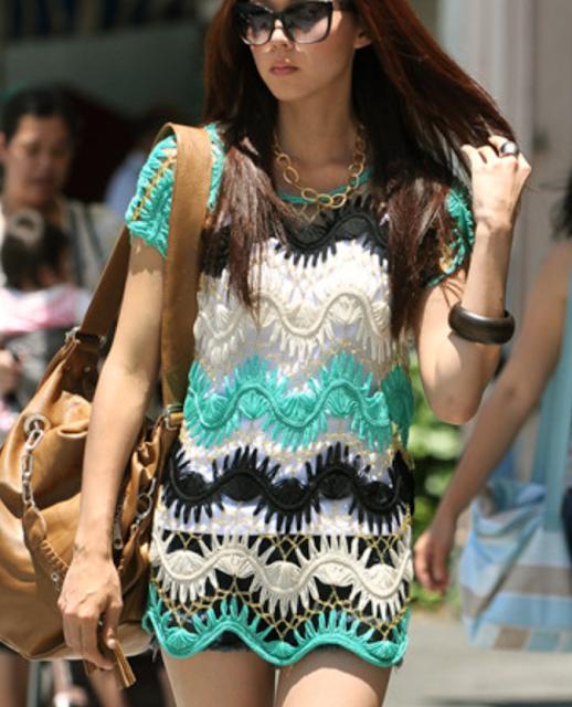 Mais uma linda blusa de crochê de grampo. Escolha a cor e bom ...