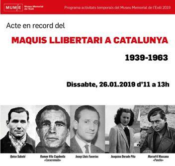 Acte en record del maquis llibertari a Catalunya (1939-1963) al Museu Memorial de l'Exili