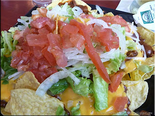 nachos at Sam Adam's in Atlantic City International Airport