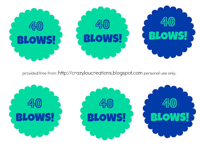 40 Blows Printable Tags