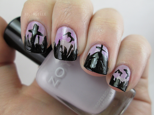 my 8 Spooky Nights Nails