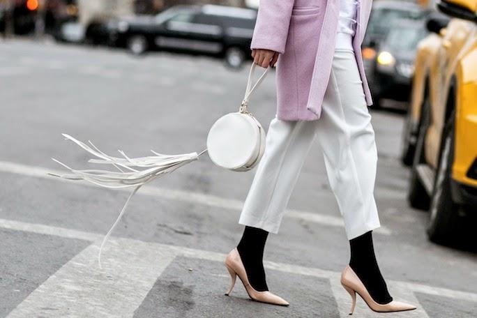 new york street style, fringe handbag