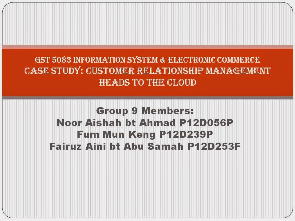 customer relationship management case study The value proposition and benefits for customer that integrate diverse customer relationship managment (crm) applications specific use cases and configurati.