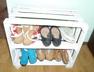 Skrzynka na buty zrób to sam DIY