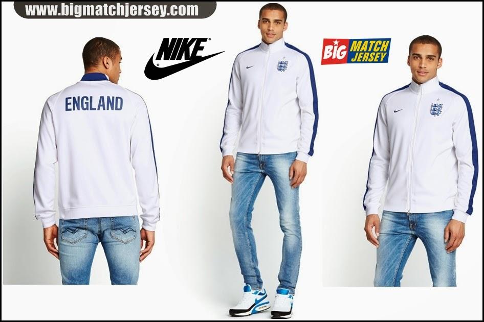 Jual Jaket Produk Nike Grade Ori Timnas Inggris Home Putih Terbaru2014 Piala Dunia