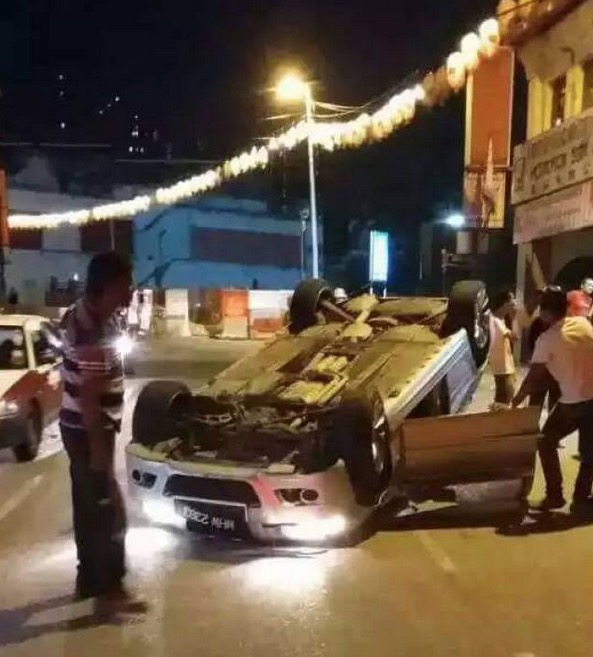 Gambar Tasha Shilla Kemalangan 2 Minggu Lalu Tersebar