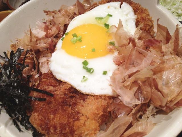Katsudon set with egg