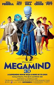 """Megamind poster """"Megamind"""" 2010 disneyjuniorblog.blogspot.com"""