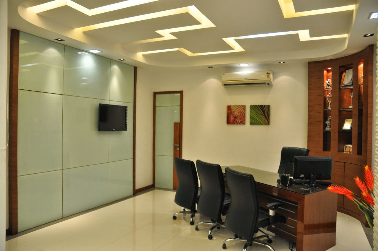 Director 39 s office cabin design for Office wall interior