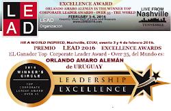 El GANADOR del Premio LEAD2016 EXCELLENCE AWARDS,  DEL MUNDO ES: