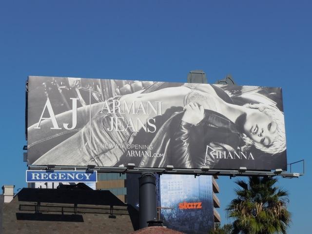 Armani Jeans Rihanna billboard