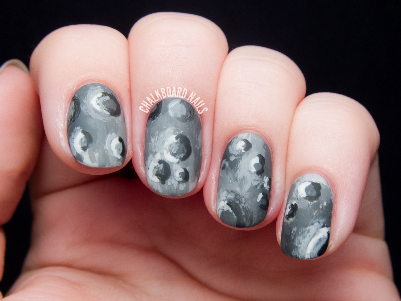 Surface of the Moon Nail Art - Surface Of The Moon Nail Art Chalkboard Nails Nail Art Blog