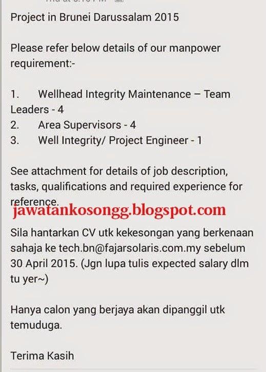 Job Project In Brunei