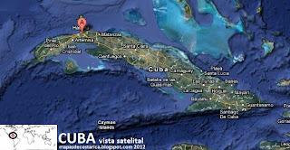 Cuba vista satelital 2012