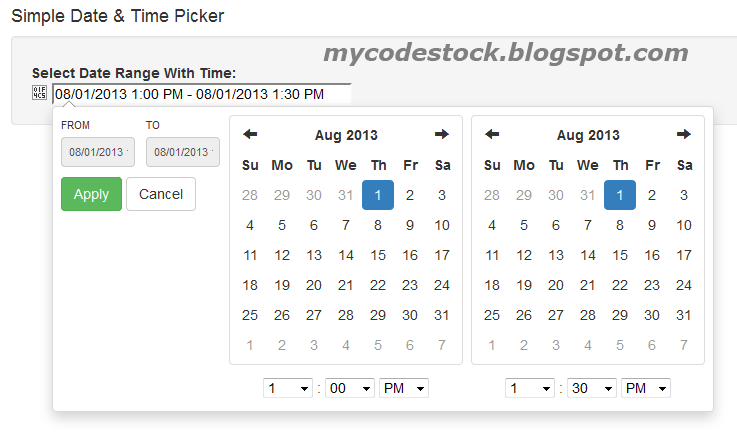 how to add datepicker in html form