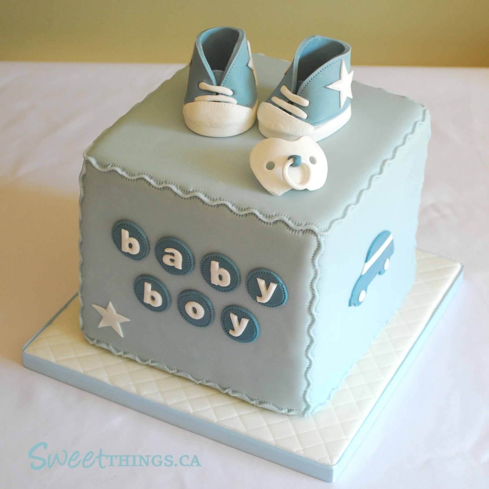 Sweetthings baby boy cake for Baby boy cake decoration