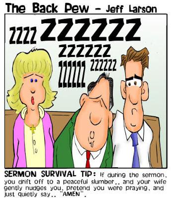 Sermon Survival Tip - The Back Pew - Jeff Larson