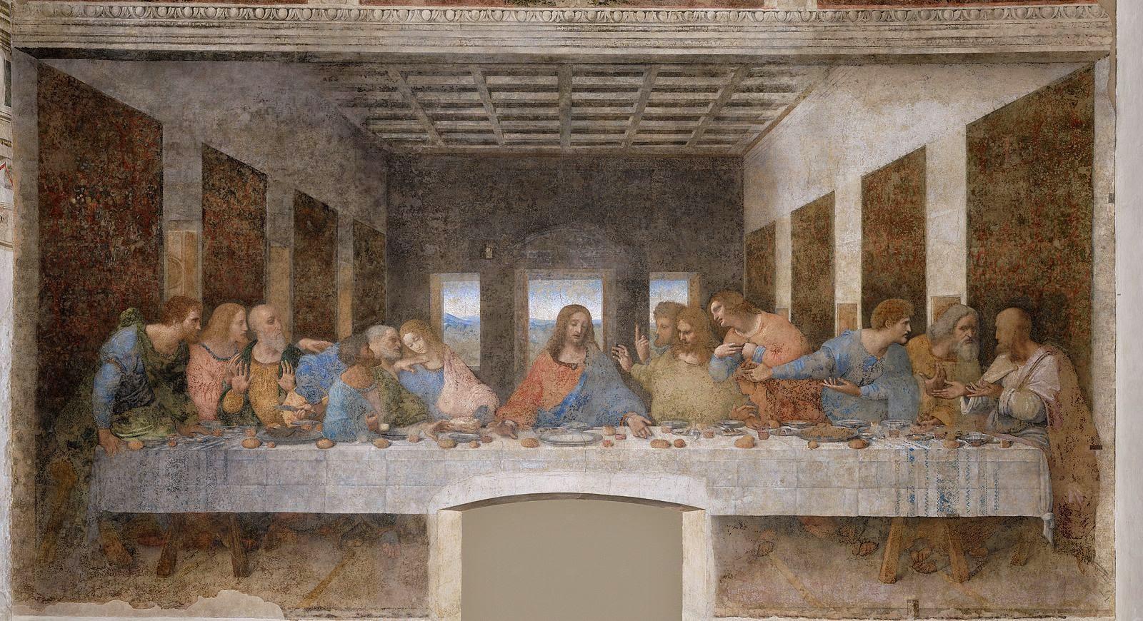 La última cena obra maestra del artista italiano Leonardo da Vinci.