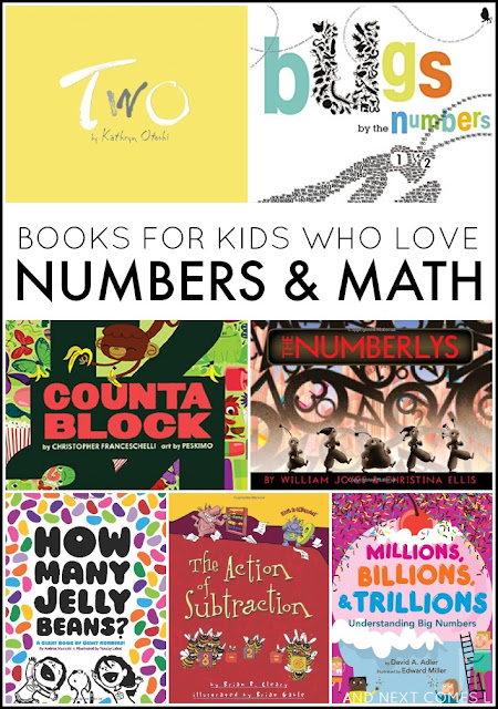 Books for kids who love big numbers & math - not your typical counting books - from And Next Comes L