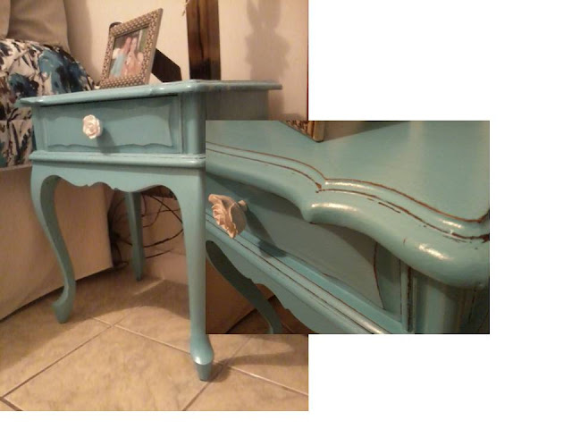 pintei de azul turquesa