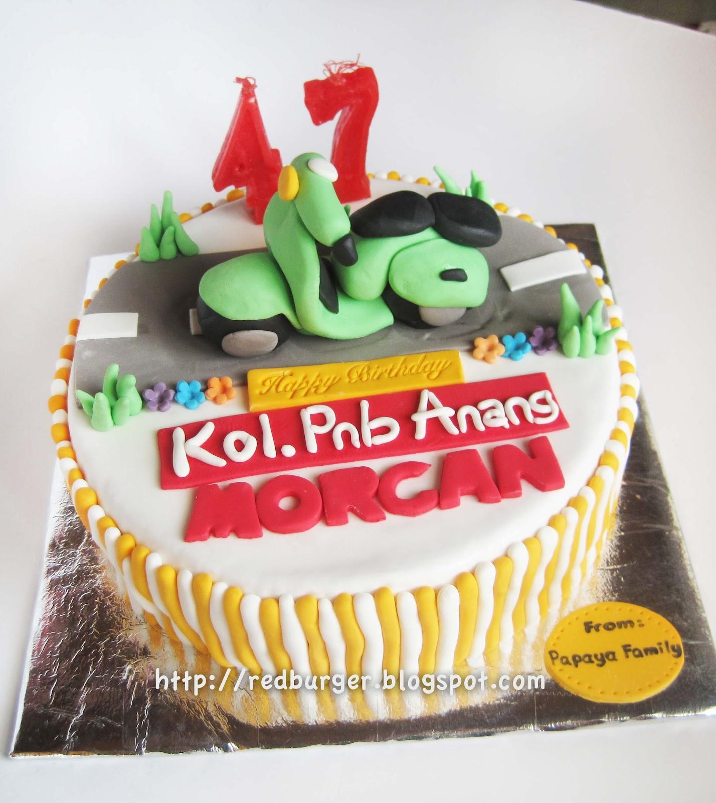 The Best BurgerCupcake and Tart in Yogyakarta Vespa birthday tart
